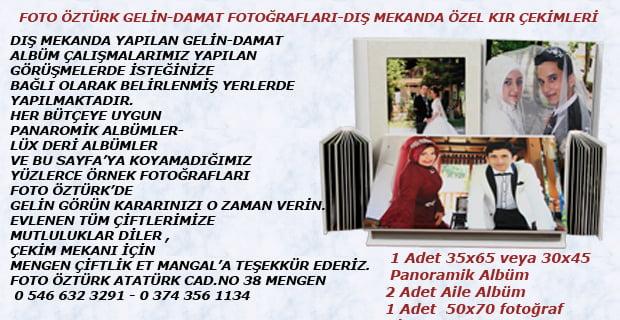 FOTO  ÖZTÜRK  Gelin-Damat  Fotoğrafları – Dış Mekanda Özel  Kır Çekimleri