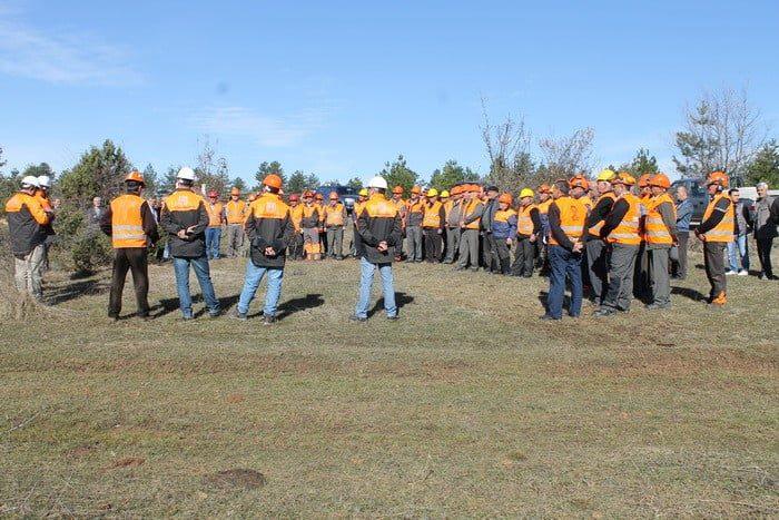 Mengen'deki eğitim Coşur Orman İşletme Şefliği 142 nolu bölmede yapıldı.