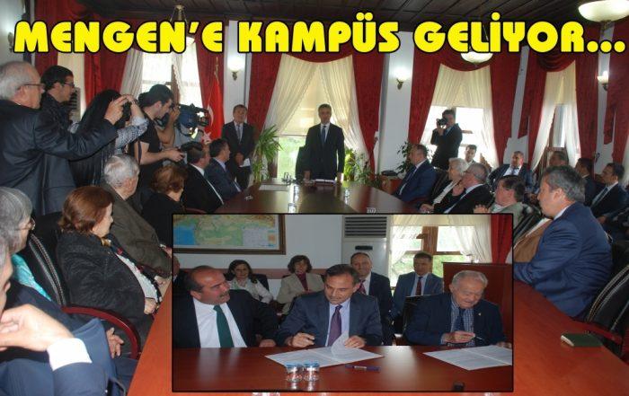 Mengen İzzet Baysal Aşçılık ve Gastronomi Eğitim Kampüsü Protokolu imzalandı