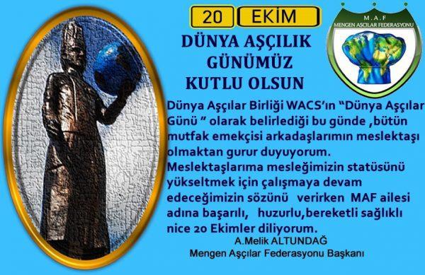 Mengen Aşçılar Federasyonu DÜNYA AŞÇILAR GÜNÜ kutlaması