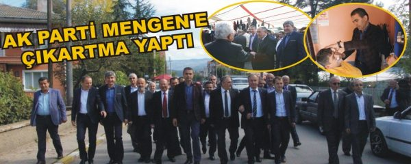 AK PARTİ MENGEN'E ÇIKARTMA YAPTI