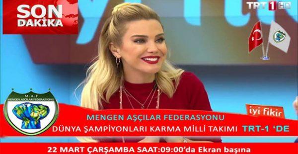 Dünya ölçeğinde altın madalyalar almış ünlü şefler TRT-1 kanalında .