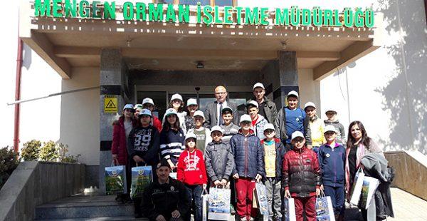 Mengen Orman İşletme Müdürlüğüne minik öğrencilerden Ormancılık Haftası ziyareti…