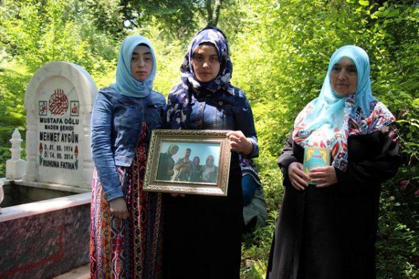 Kaçak ocakta ölen babaları için okudular