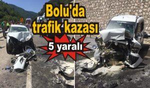 Mengen'de trafik kazası: 5 yaralı