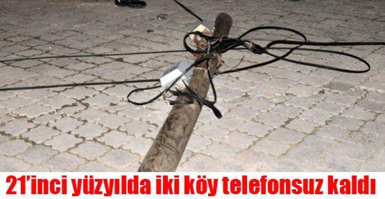 Mengen'de iki köy telefonsuz kaldı