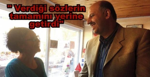 Mengen'in Tek Kadın Muhtarı Olan Tülay Turgut'tan Ercoşkun'a Teşekkür